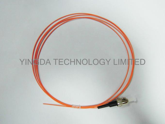 ST MM 50 / 125 um Pigtails 2 Meters 900um Orange OM2 , Fiber Optic Patch Cord ST MM SX