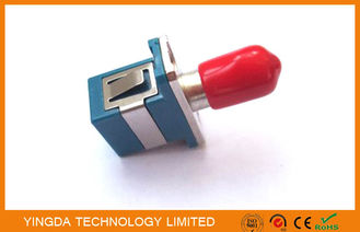 Trung Quốc Multimode Hybrid Fiber Optic Adapter SC - ST Connector With Ceramic Sleeve nhà máy sản xuất