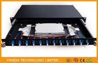1U 19 Inch Sliding Rack Mount Fiber Optic Patch Panel 12 Port LC Duplex