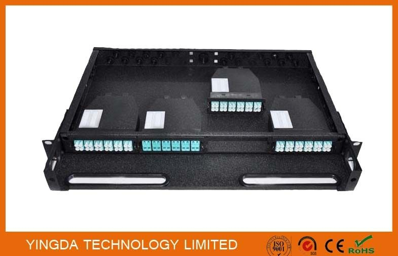 96 Cores 1U MPO Patch Panel / Enclosures 4 bays wide 24 LC ports3 MPO APC (x8) input SMF nhà cung cấp
