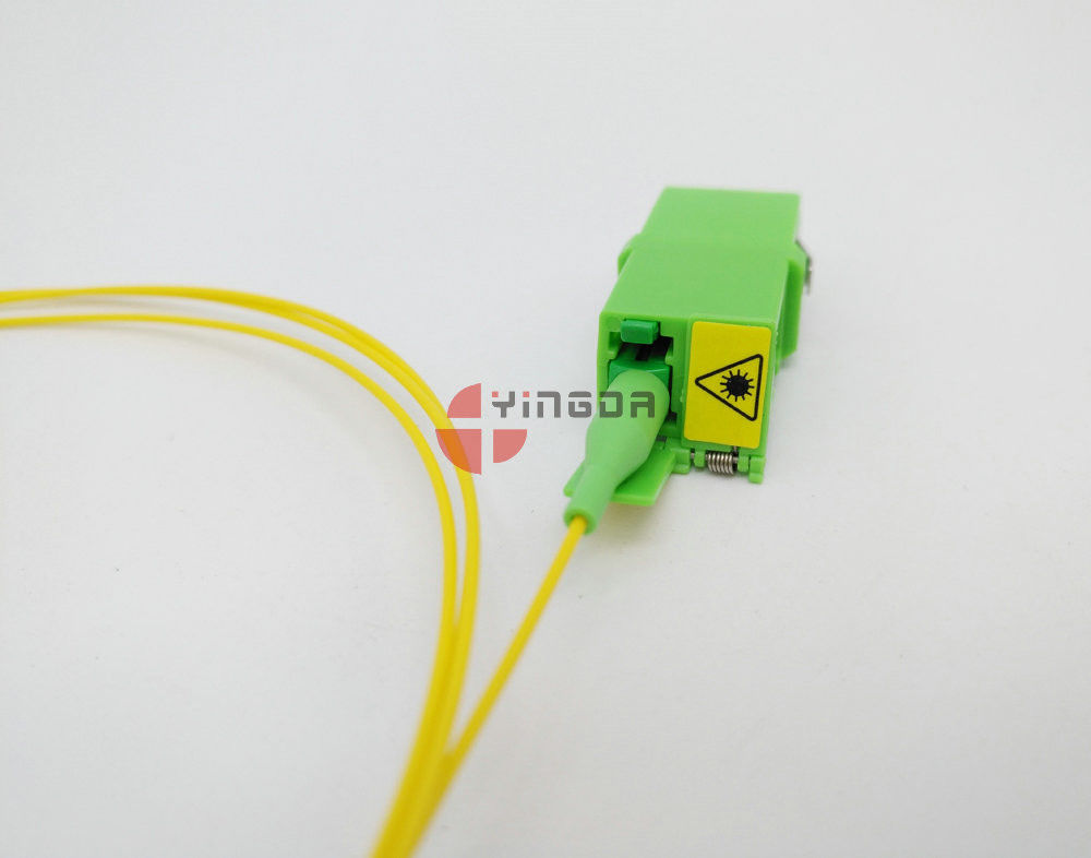 Single-mode Simplex Fiber Optic Adapter LC/APC, Green LC Fiber Optic Coupler
