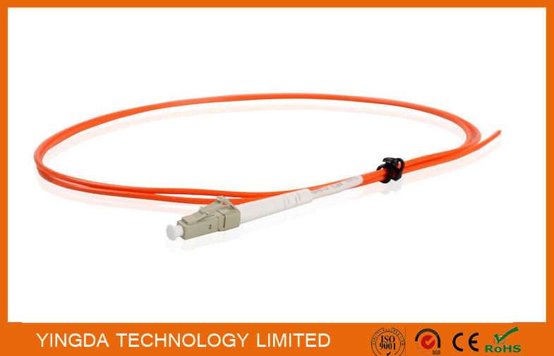 Fiber Pigtails LC Multimode Simplex 2.0mm Diameter LSZH Tight Buffer Orange
