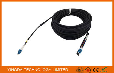 Duplex DLC LC Fiber Optic Patch Cord Leads 5.0mm 2 Core Optical Cable Assembly