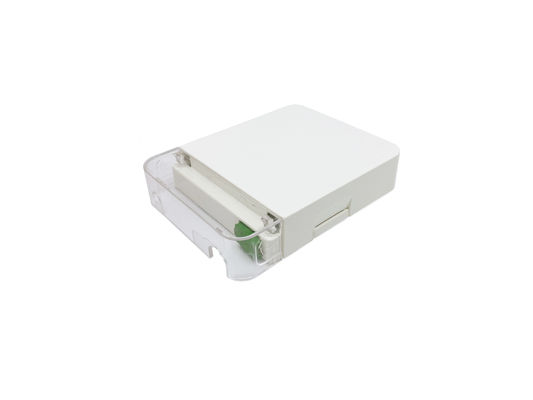 1 Port Customer Wall Outlet Fiber Terminal Box Faceplate SC / APC Connectors